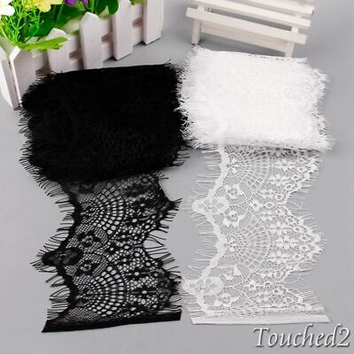 3Y Eyelash Lace Trims Fabric Edge Ribbon Applique Floral Craft Clothes Sewing