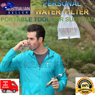 Survival Water Filter Straw Life Saving Purifier 2000 Liters - Camping Hiking
