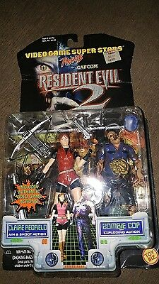 RESIDENT EVIL 2 Video Games Super Stars Claire Redfield Zombie Cop MOC 1998