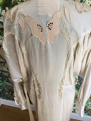 Vintage Silk Dressing Gown