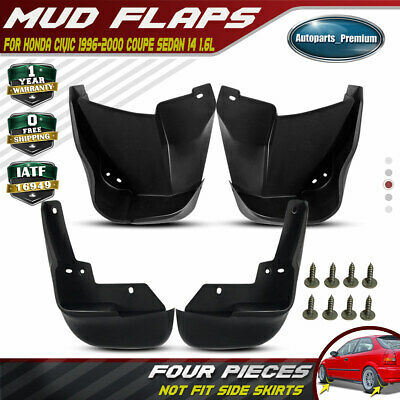 4x Front & Rear Left+Right Splash Guard Mud Flaps for Honda Civic 1996-1999 2000
