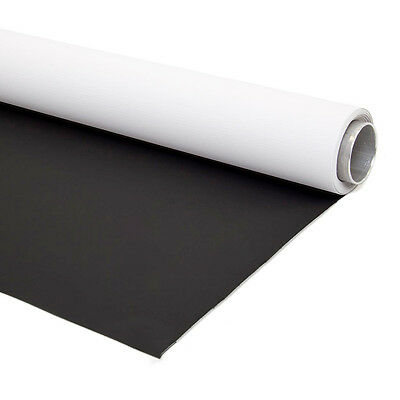 1.45x4m Dual Sided Vinyl Backdrop Durable Background Black White Photographic