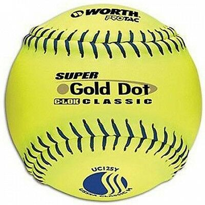 Worth Protac Official USSSA Men'S Super Gold Dot Slowpitch Softball-30cm - 1 Doz