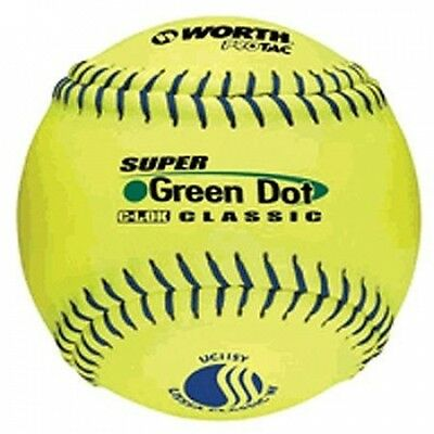 Worth Protac Official USSSA Women'S Super Green Dot Slowpitch Softball-28cm - 1