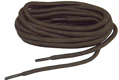 Brown w/Black Heavy Duty Kevlar(r) reinforced boot laces shoelaces *NEW* 2 pair