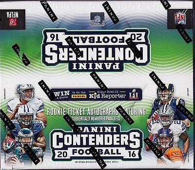 2016 Panini Contenders Football Factory sealed retail box 24 packs of 8 cards