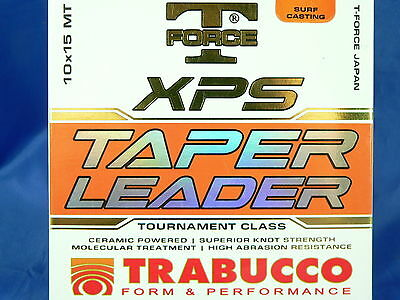 Monofilament Trabucco XPS Tapered Leader 10pzx15mt surf casting beach legering