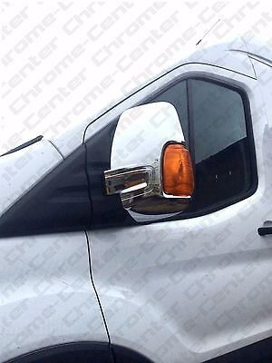FORD Transit 2014 MK8 Onward Mirror Covers ABS CHROME
