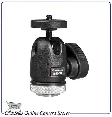 Manfrotto 492LCD Micro Ball Head swivel-mounting LCD or TFT monitor Mfr # 492LCD