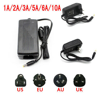 AC DC Power Supply Adapter Transformer 12V 2/3/5/6/8/10A for 5050 3528 LED Strip