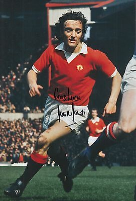 Lou Macari Hand Signed Manchester United 12x8 Photo 2.