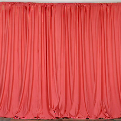 CORAL 10 x 10 ft Polyester BACKDROP CURTAINS Drapes Panels Home Decorations