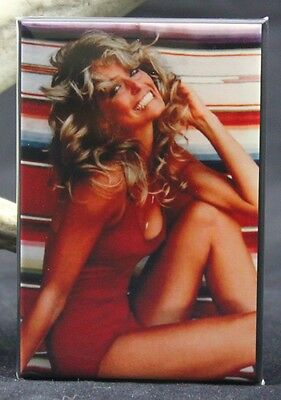 "Farrah Fawcett Pinup 2"" X 3"" Fridge / Locker Magnet."