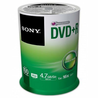 Sony DVD+R 4.7GB 16X 120min 100-Pack Spindle
