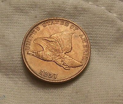 1857 Flying Eagle Cent: Full Strike-Smooth Rd&Bn Surfaces-ALL Feathers-Choice++