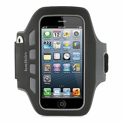 Genuine Belkin (7911)EaseFit Plus Armband for iPhone 5/S/C/SE BLK
