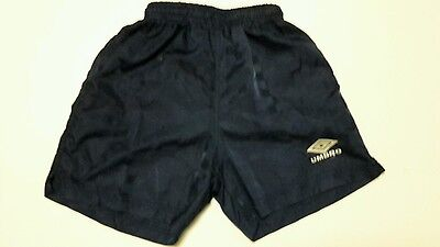 UMBRO Vintage Youth Blue Checkered Pattern Soccer Shorts Sz YM