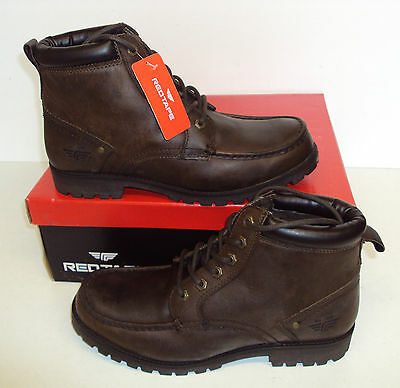 Red Tape Men's Keasden Brown Leather Lace Up Ankle Boots Shoes New Sizes UK 7-10
