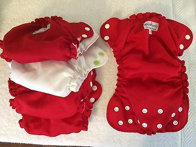 Applecheeks Size One -  lot of 5 cloth diaper covers