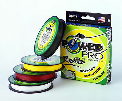 Power Pro Braided Spectra Fiber Fishing Line 40Lb 500 YD Yellow 21100400500Y