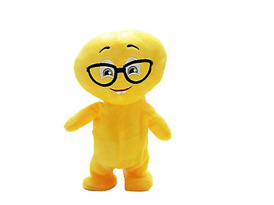 """Handsome Boy with Eyeglasses Emoji Buddy 8.5"""" Tall Walks & Repeats What You Say"""