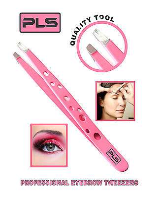Pince à épiler Eyebrow Tweezer, Stainless Steel with Colour Coating Slanted Tip