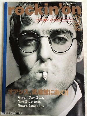 rockin'on 3/1998 Japan Music Magazine Oasis Green Day