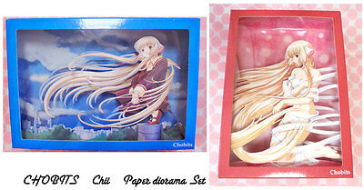 Chobits Chii Paper 3D Diorama Set CLAMP Japan Anime
