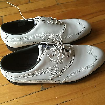 FootJoy Golf Shoes Mens White Metal Spikes Size 11 M