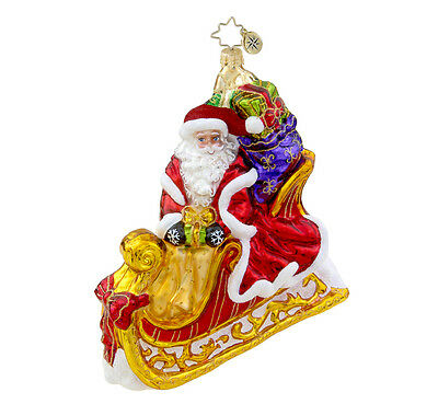 Christopher Radko - Seasonal Sleighride - Santa in Sleigh - Ornament - 1015664