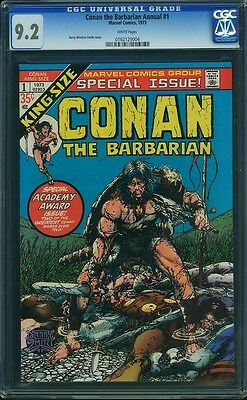 CONAN THE BARBARIAN ANNUAL #1 CGC 9.2 White Pages