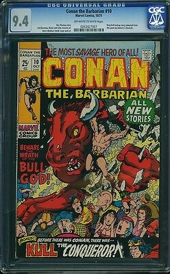 CONAN THE BARBARIAN #10 CGC 9.4 OW/W -- Barry Windsor-Smith