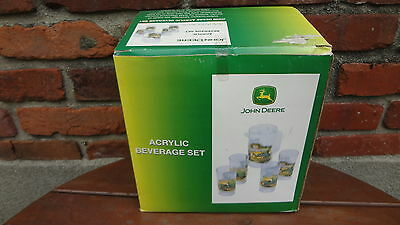 John Deere 5 Piece Acrylic Beverage Set New/Mint