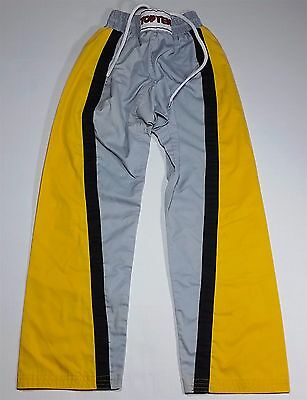 Top Ten Martial Arts Kickboxing Pants Yellow & Grey - Junior 150cm XS