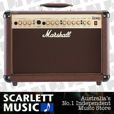 Marshall AS50D 50w 2x8 Acoustic Guitar Combo Brown AS-50D w/12 Months Warranty.