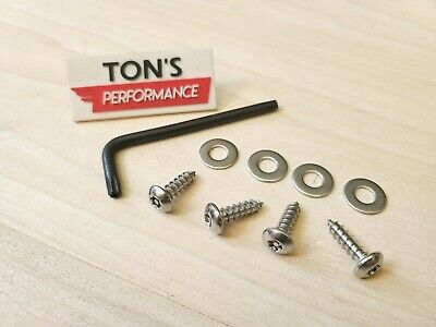 4 FORD Domestic Theft Deterrent Security License Plate Screws Stainless Steel