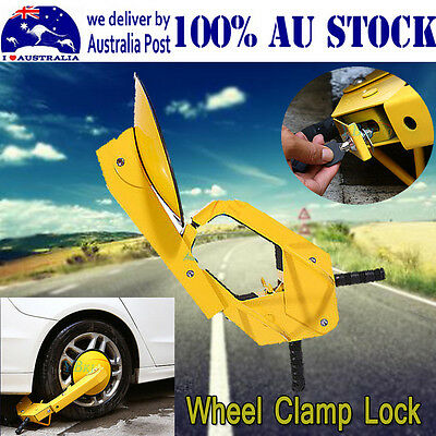 2017 Ultra Security Safety Anti-Theft Wheel Clamp Disc Lock Auto Car Vehicle NEW