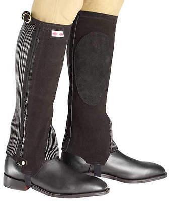Zilco Jodz Chappettes/half Chaps ,brown Suede Ribbed Elastic Rear, Med Or Lge