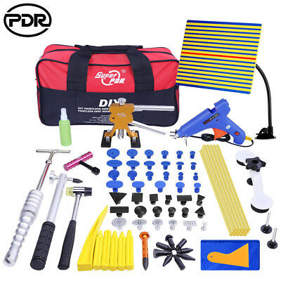 Paintless Dent Removal Puller Lifter PDR Tools Hail Repair T Bar Hammer Kit 81pc