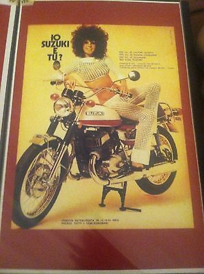 Vintage Suzuki T500 Titan Motorcycle Art Poster Man Cave Garage Art Advertising