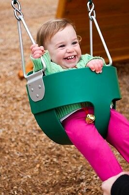 Full Bucket Toddler Swing Seat Infant Cubbyhouse Playground Blue Green Red