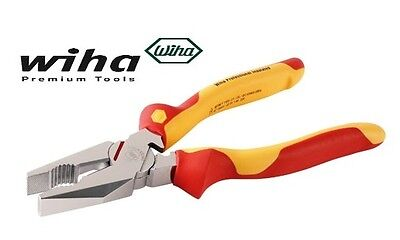 """NEW Wiha Pliers -Trades Insulated 1000V AC Linesman Pliers 9"""" (225mm)"""