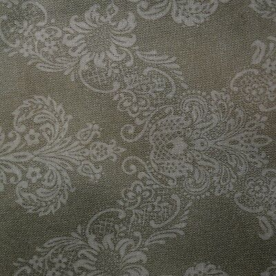 Quilt Fabric Quilting Cotton Calico Moss Green Tonal Damask: FQ or Cut-to-Order