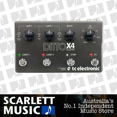 TC Electronic Ditto X4 Dual Track Intuitive Looper Effects Pedal *BRAND NEW*