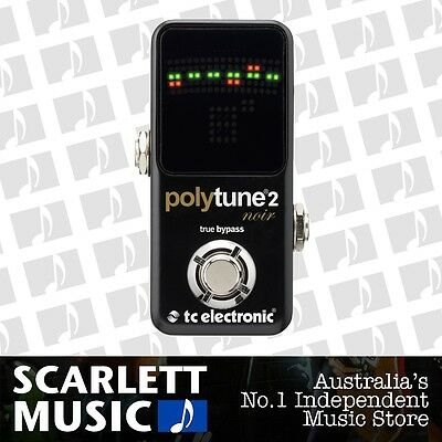 TC Electronic PolyTune 2 Noir Polyphonic Guitar Tuner Pedal *BRAND NEW*