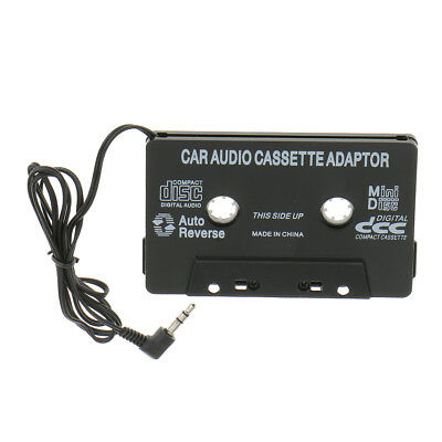 Car Cassette Travel Adaptor Connects CD MD MP3 to Your Car Stereo Black