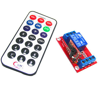 3V 1 Channel IR Infrared Remote Control Switch Relay Module Board MagiDeal