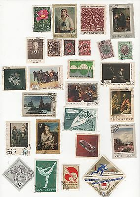 RUSSIA -  SELECTION OF STAMPS  - CANCELLED TO ORDER  CTO see 2 pages SCANNED