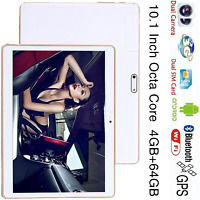 "Blanco PC tablet 10"" Octa Core 4GB RAM 64GB ROM Android 5.1 Dual Sim 3G EU Plug"