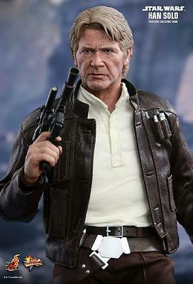 "Star Wars The Force Awakens Han Solo 1/6 Scale Hot Toys 12"" Figure MMS374"